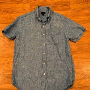 J Crew Short Sleeve Linen Shirt